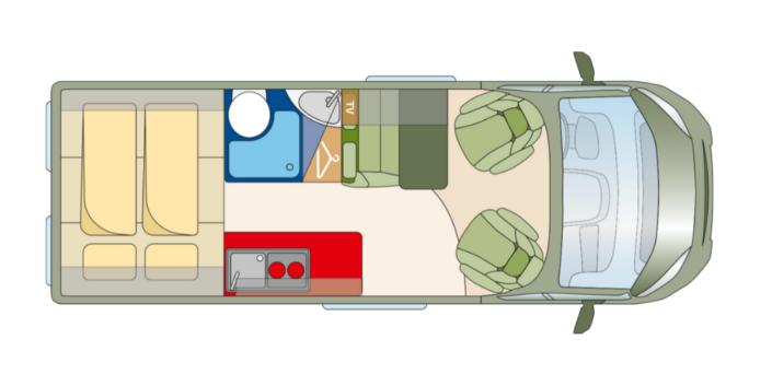 Roadcar R600 pôdorys